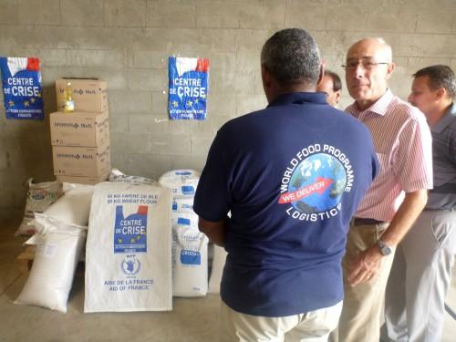 La logistique humanitaire et les dons du centre de crise