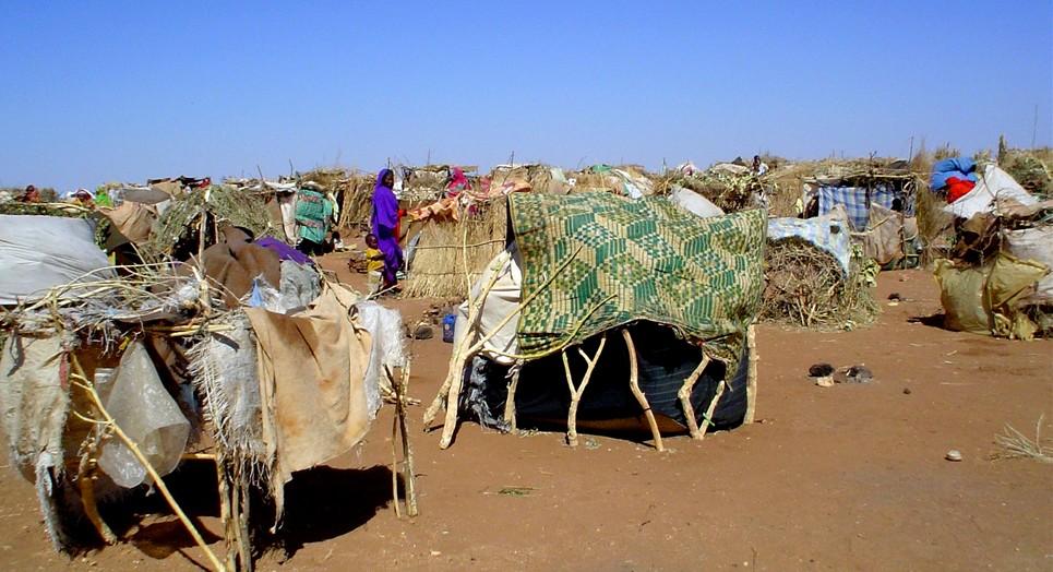 Camp humanitaire au Darfour