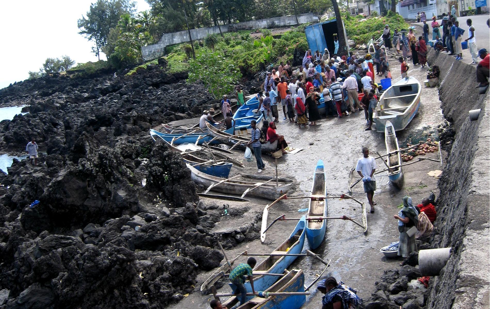 Marché de la pêche aux Comores