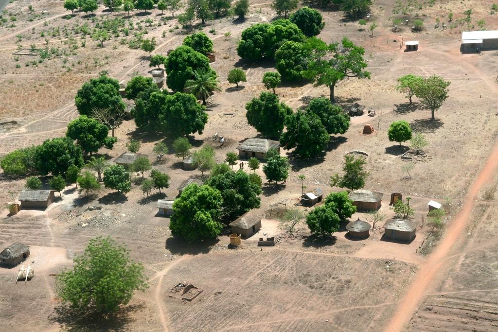 Un village entre Bangui et Paoua.
