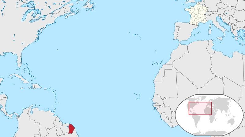 Carte de la Guyane Francaise