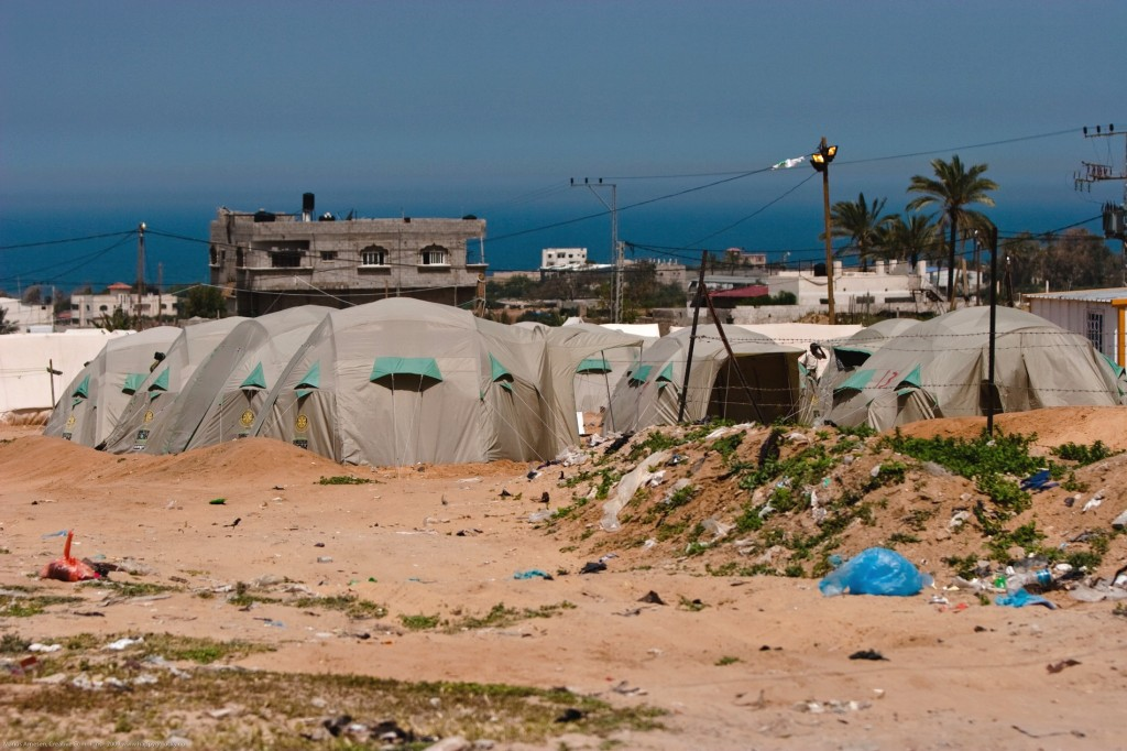 Camps humanitaires sur la Bande de Gaza