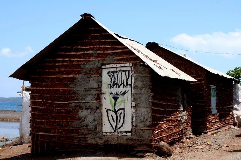 Habitat traditionnel à Mayotte
